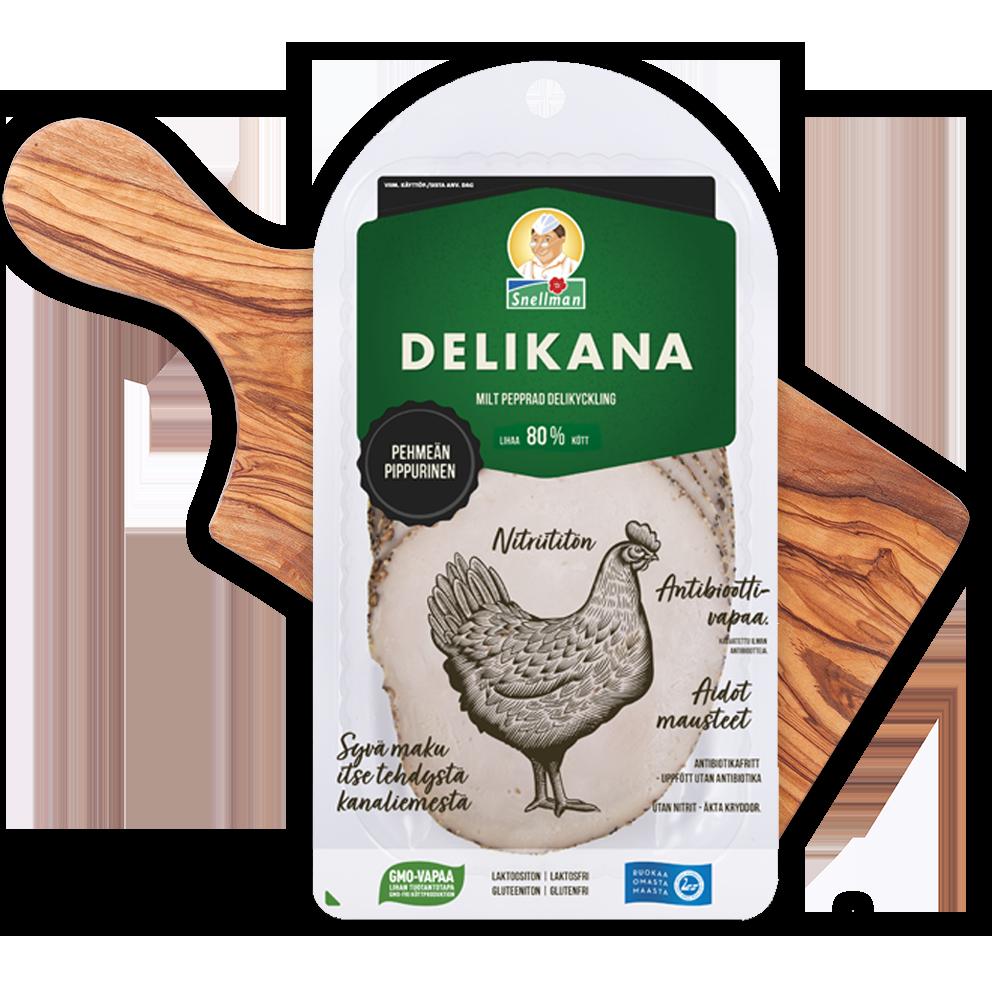 Delikana, pehmeän pippurinen
