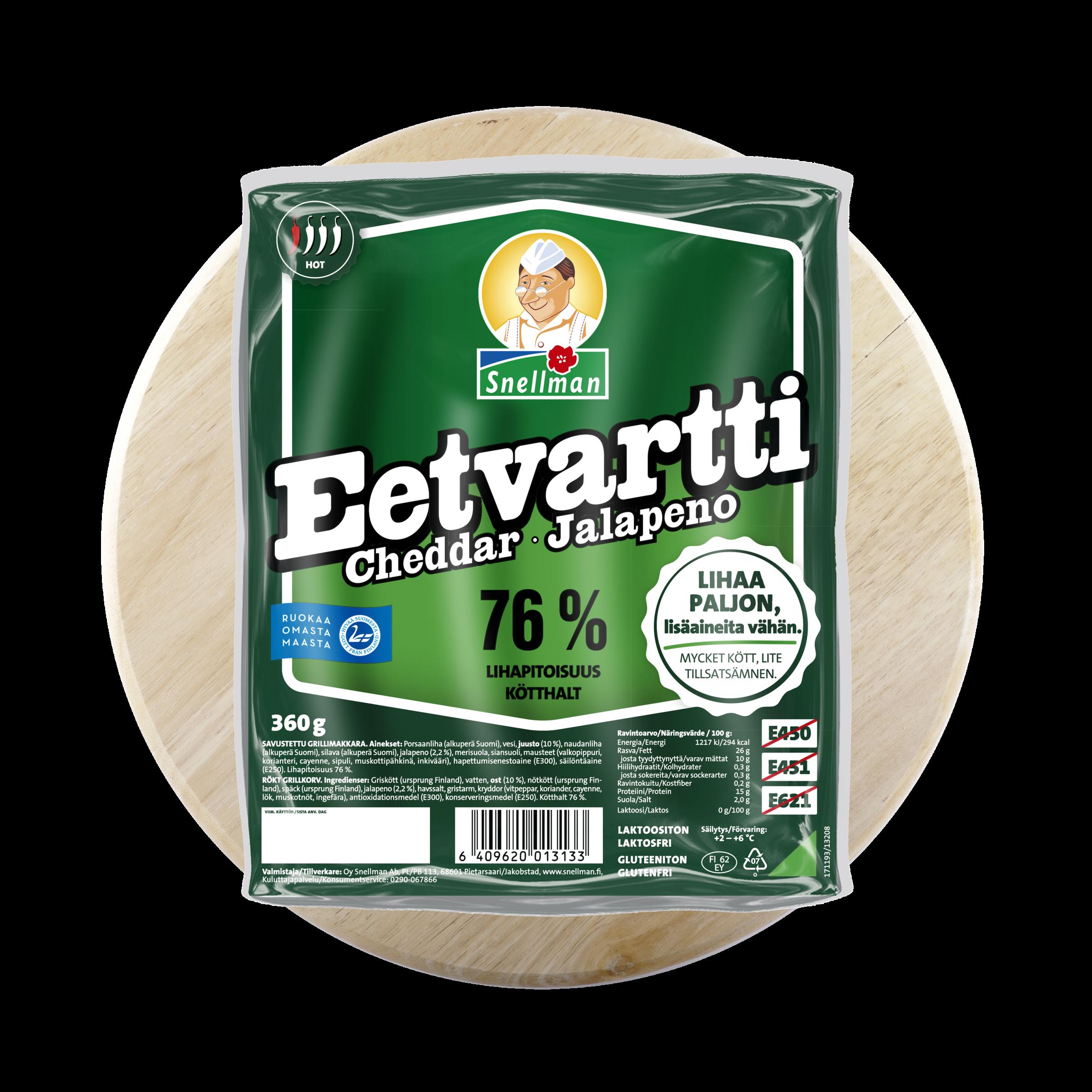 Cheddar Jalapeno Eetvartti