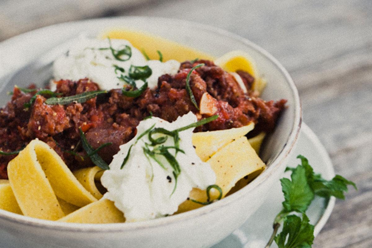 Chorizo-Bolognesekastike