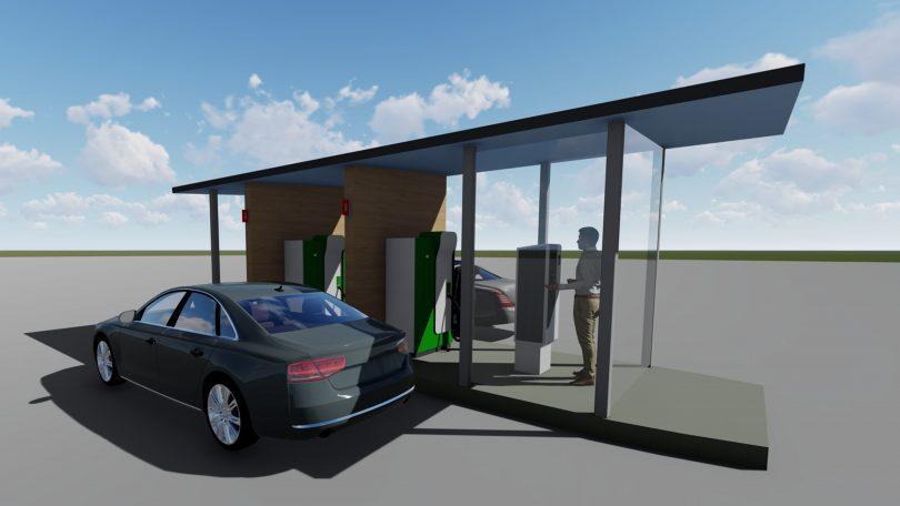 Skiss över biogasstationen vid Granholmen