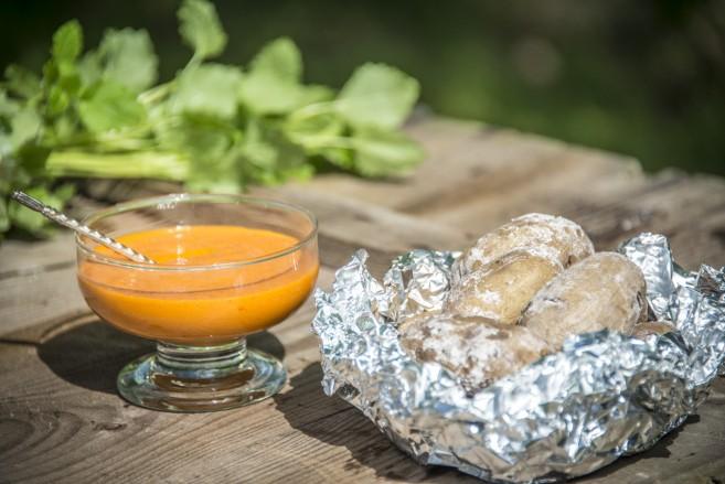 Kanarian perunat ja Mojo Rojo -kastike 1