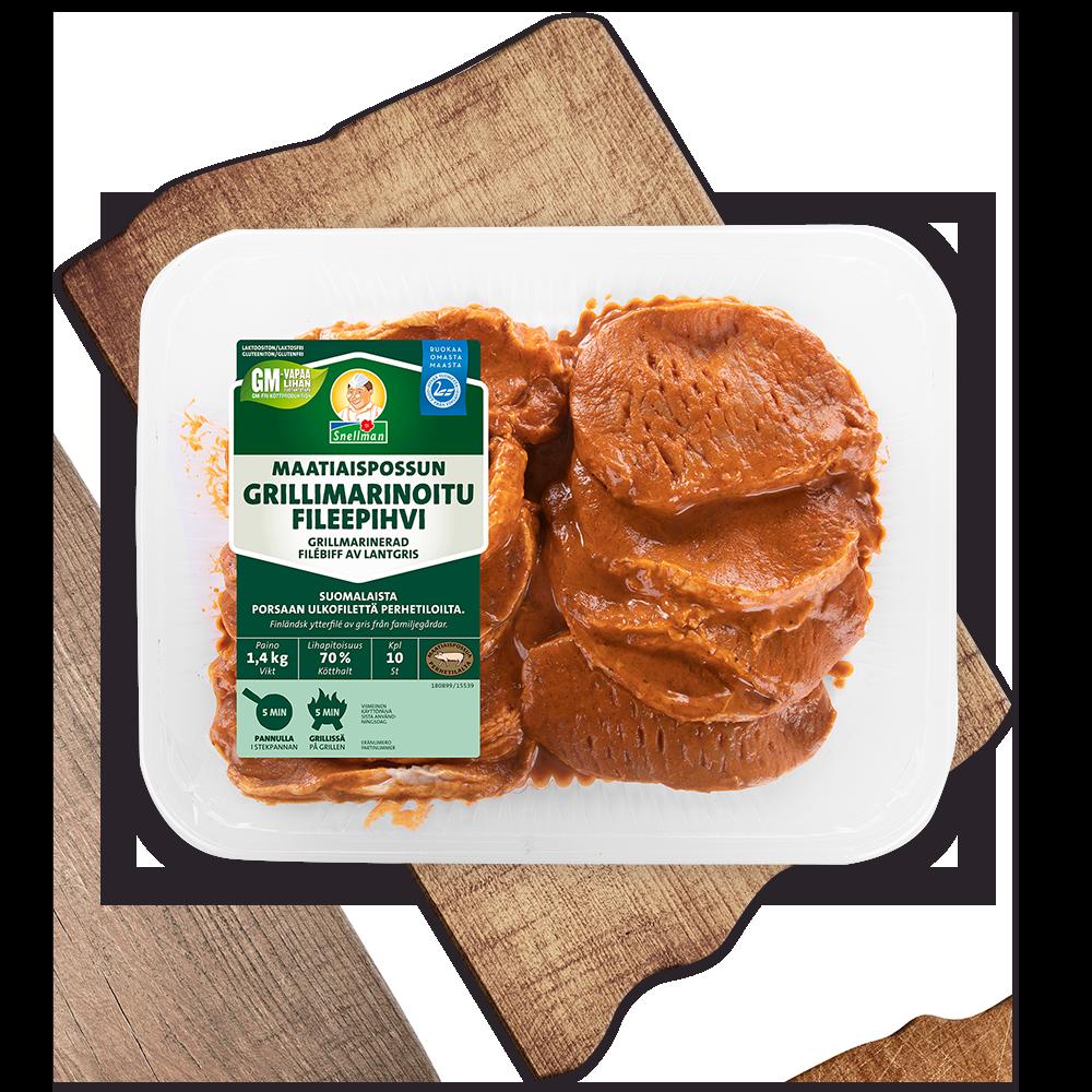 Grillmarinerad filébiff av lantgris, 10 st
