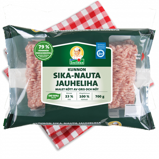 Kunnon sika-nauta jauheliha 700 g 1