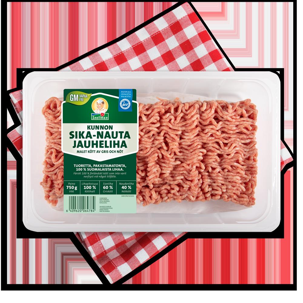 Malet kött av gris och nöt 750 g