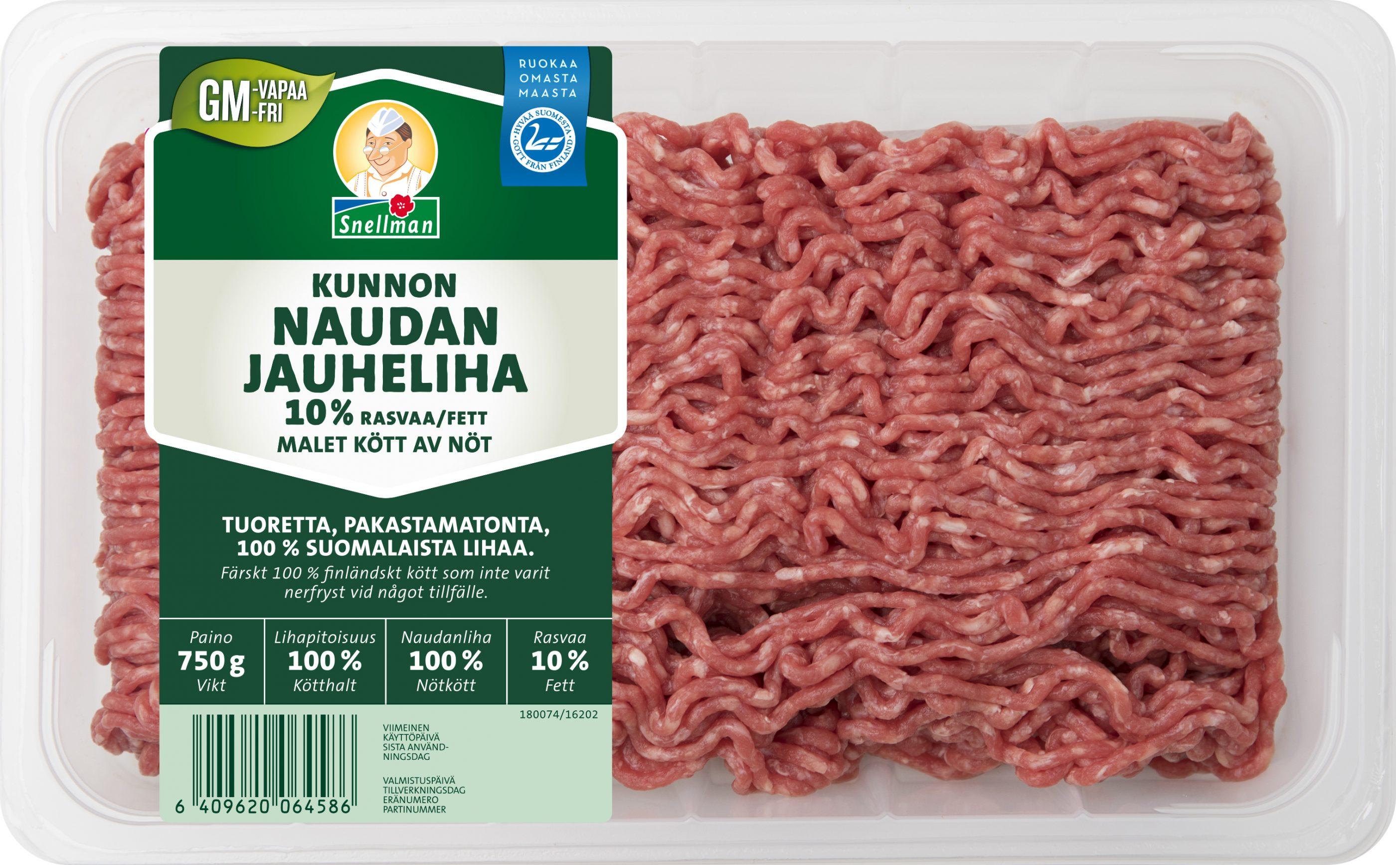 Kunnon naudan jauheliha 10 % 750 g