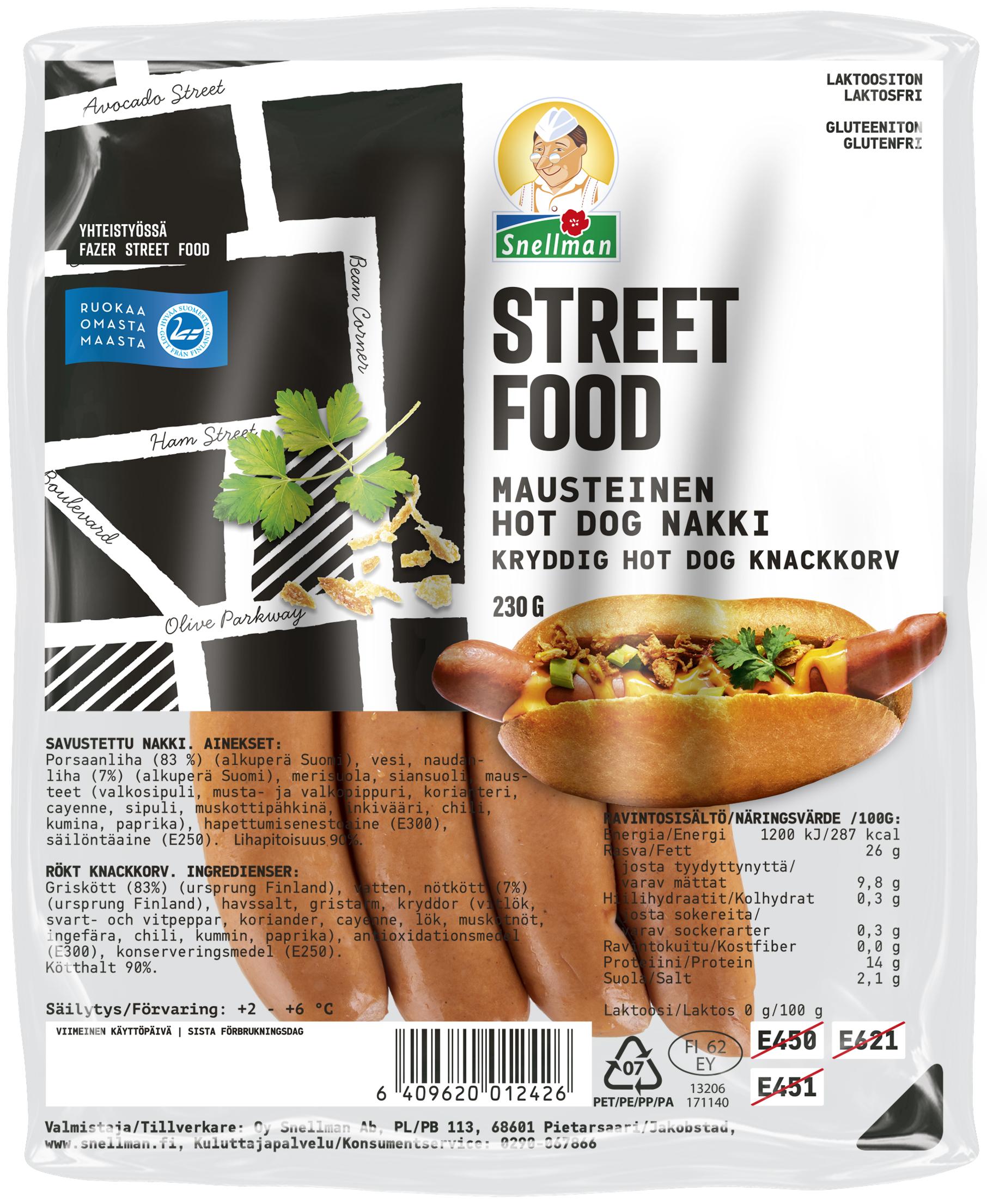 Street Food Mausteinen Hot Dog nakki 230 g