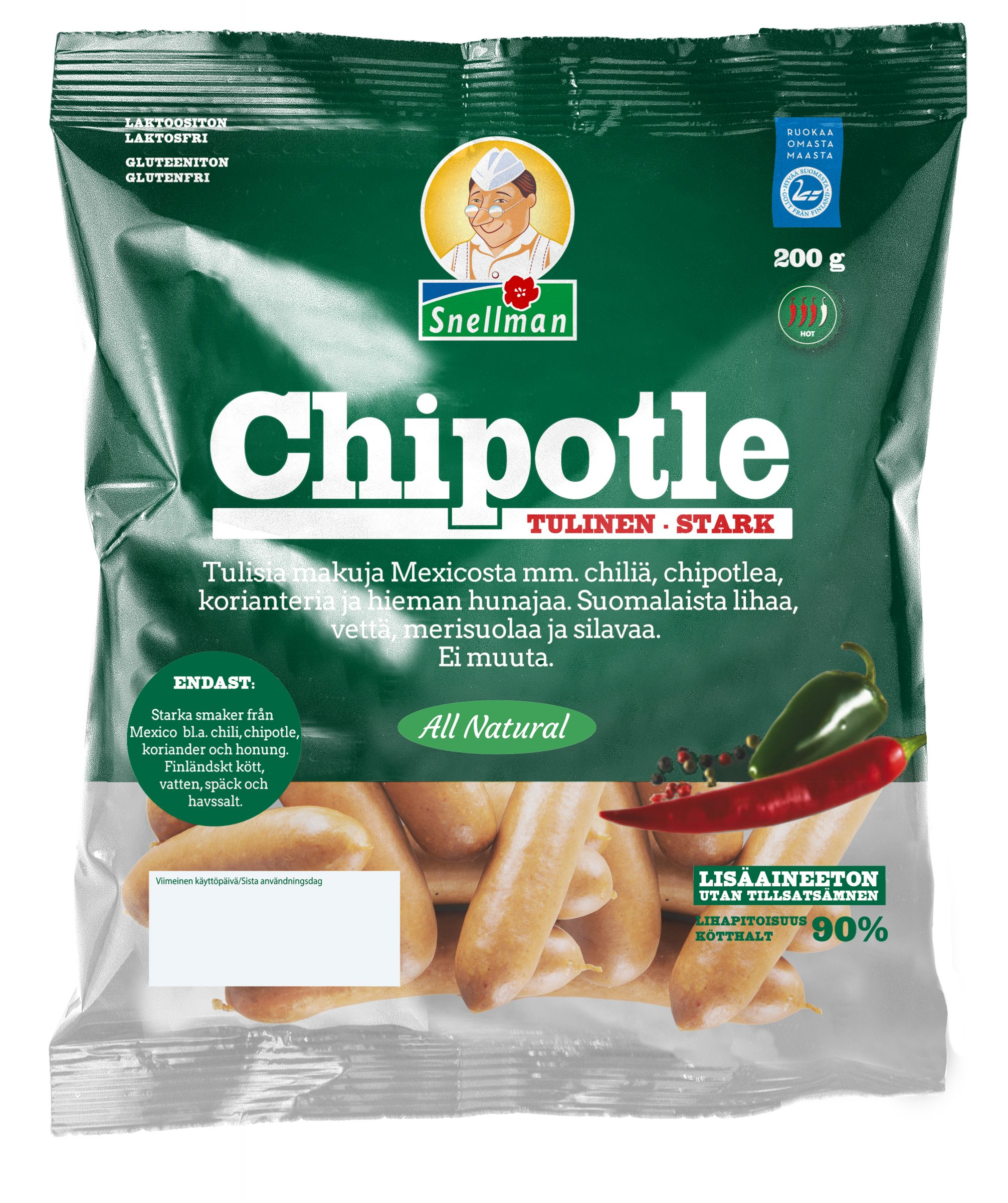 All Natural Chipotle 200 g pussi