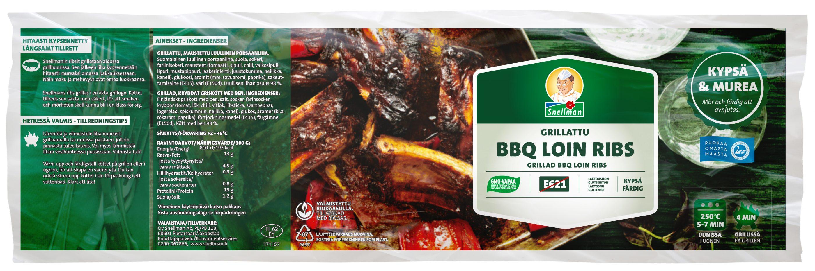 Grillattu BBQ Loin Ribs