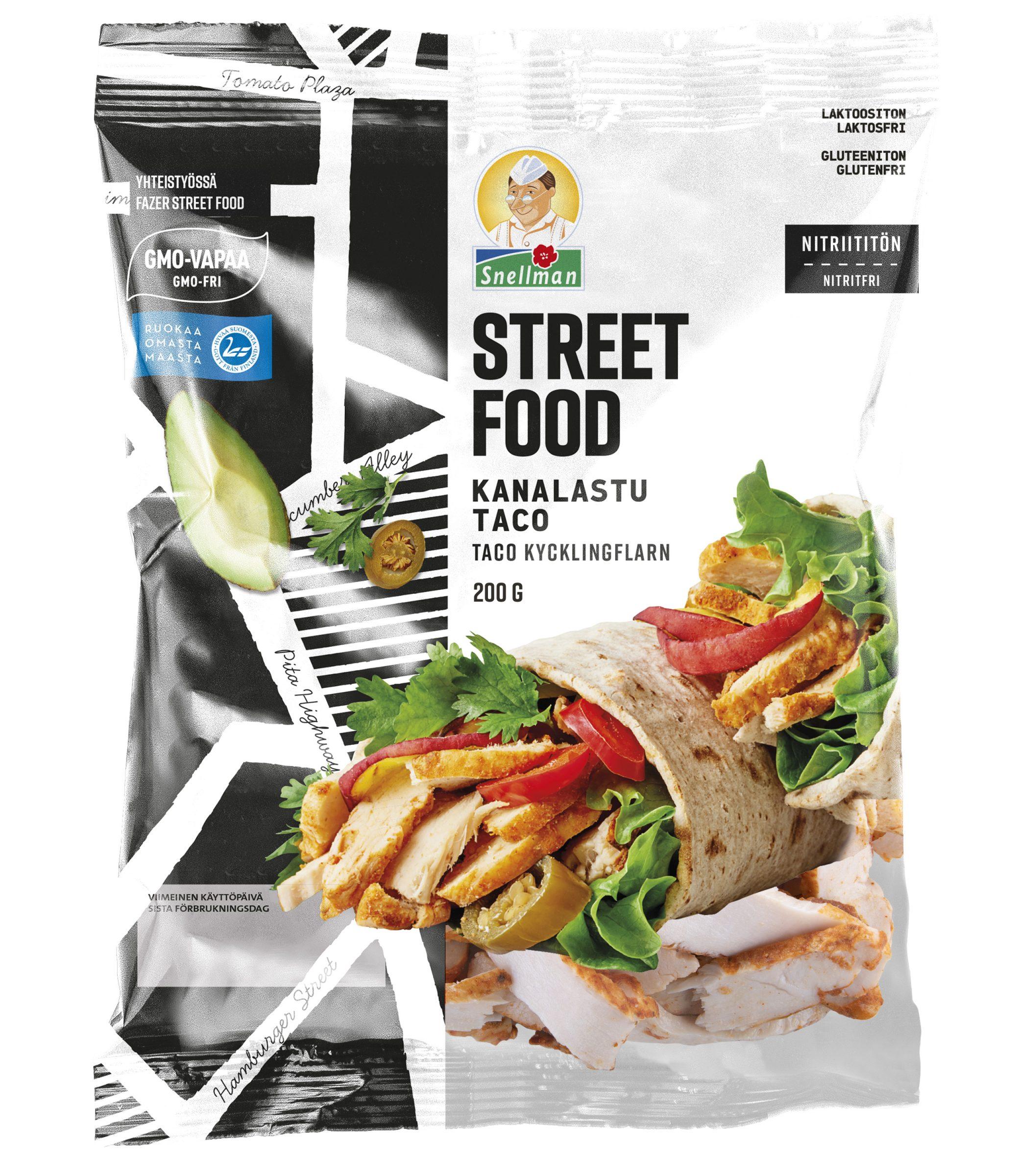 Street Food kanalastu taco