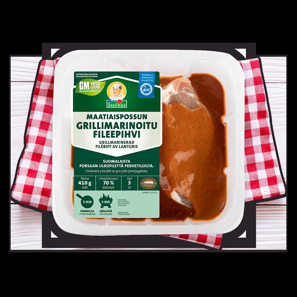 Maatiaispossun grillimarinoitu fileepihvi, 3 kpl 1