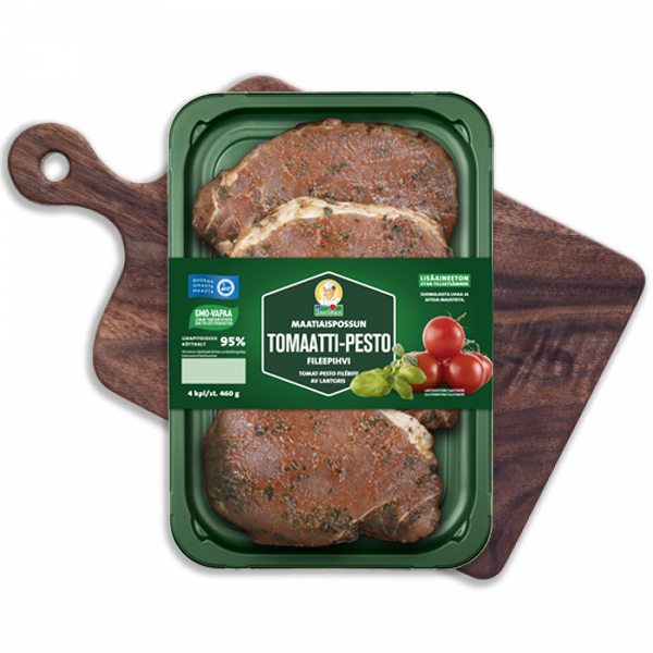 Maatiaispossun tomaatti-pesto fileepihvi 4 kpl