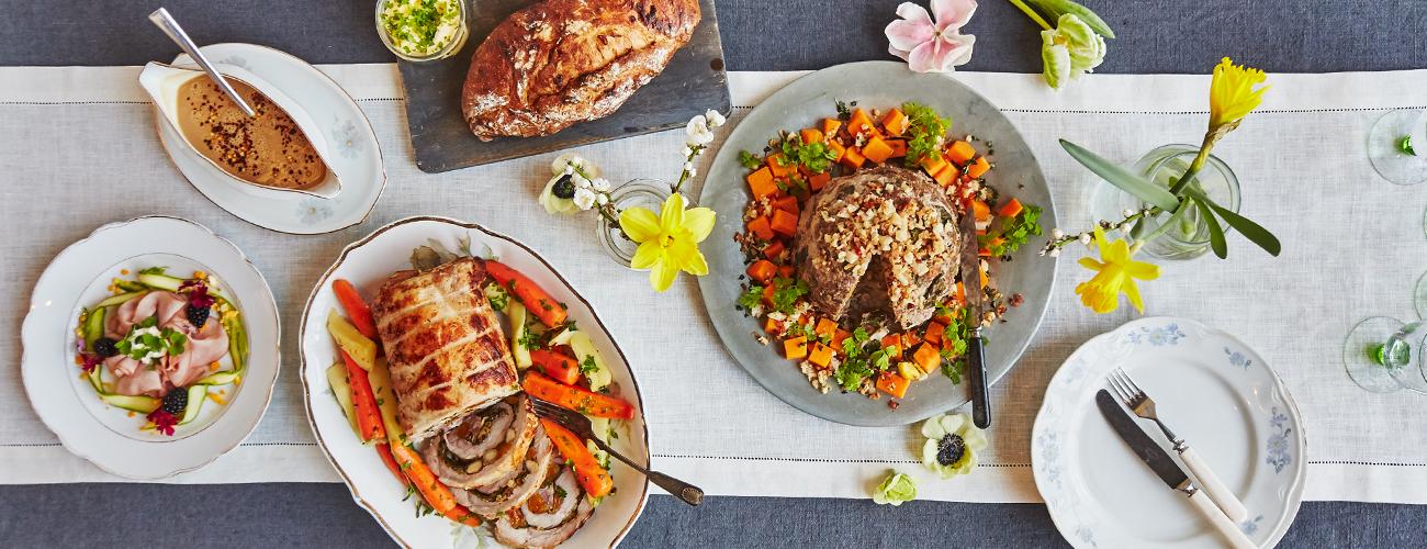 Mitä pääsiäisruokaa juhlapöytään? Kokoa pääsiäismenu yli 30 reseptistä! 1