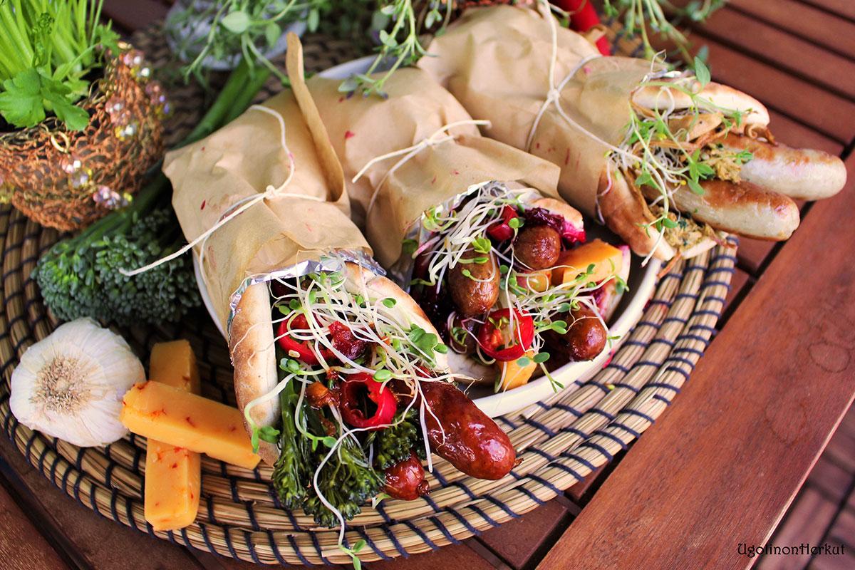 Makkara-leipäkääryleet