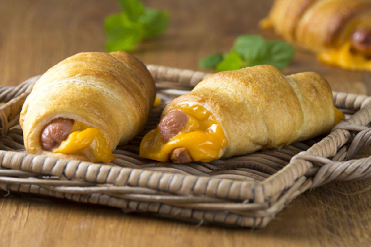 Nakkipiilot croissanttitaikinasta