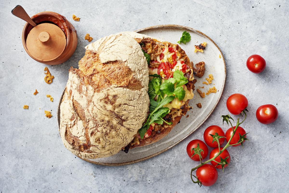 Sloppy Joe rapeakuorisesta maalaisleivästä