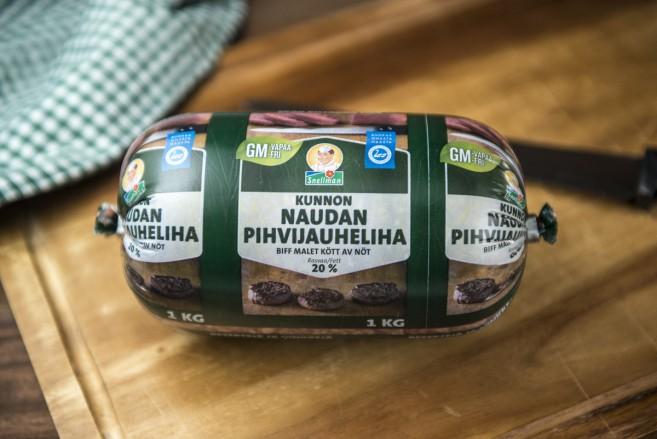 Kunnon naudan pihvijauheliha on suunniteltu erityisesti hampurilaispihvien tekoon.