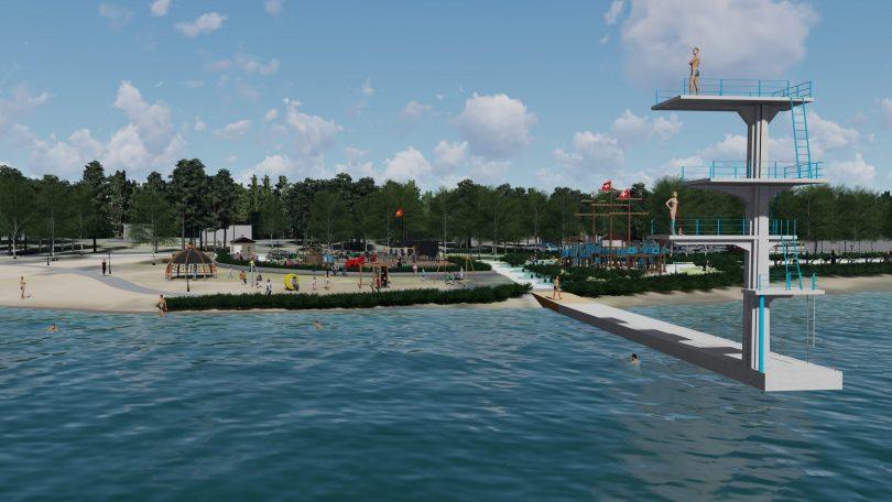 Havainnekuva, Vanhan sataman liikunta- ja leikkipuisto.