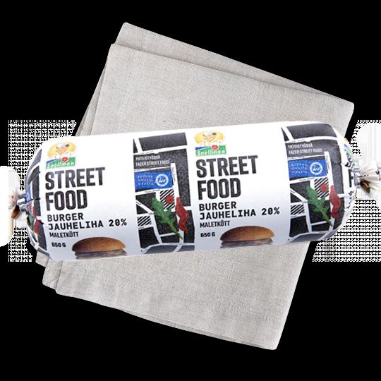 Street food burgermaletkött