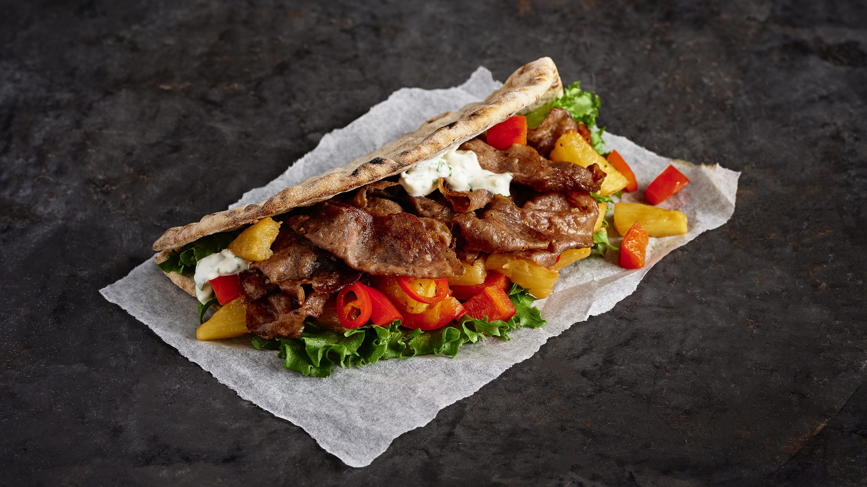 Street Food kebab flatbread 1