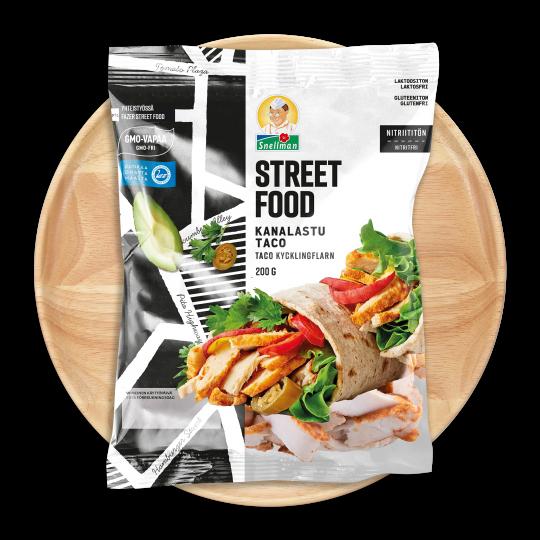 Street Food kycklingflarn taco 1