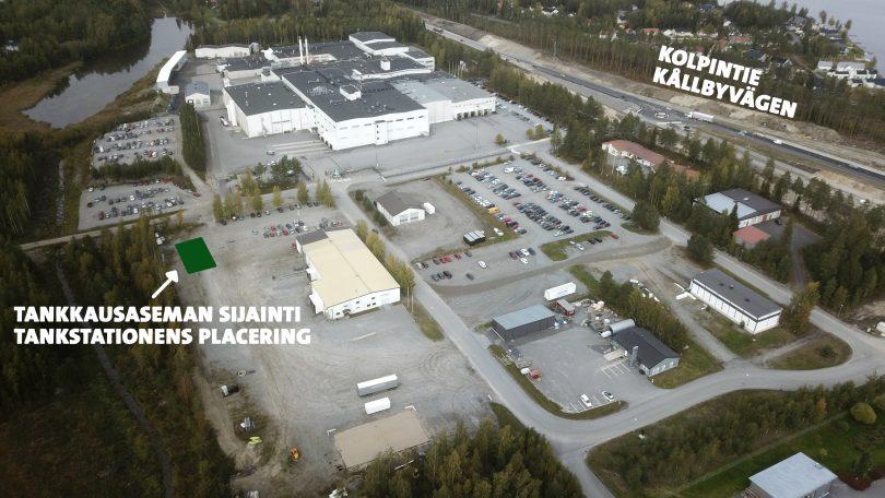 Biokaasutankkausaseman sijainti Kuusisaaressa.